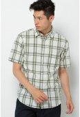 SS 綿麻チェックシャツ